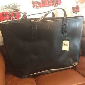 NWT Ralph Lauren Zippered Tote